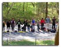 Menschenkette für den Atomausstieg